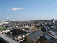 屋上からの風景。
